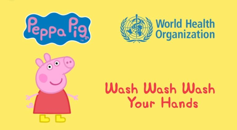 who wash your hands with peppa pig